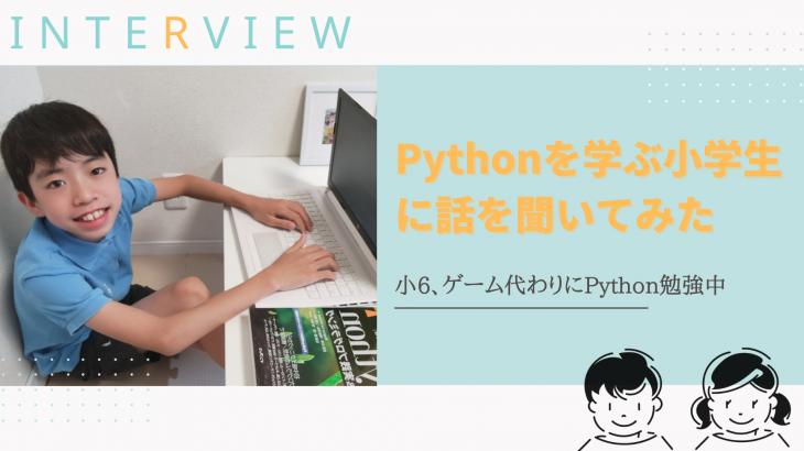 ゲームの代わり!?Pythonを学ぶ小学生に話を聞いてみた